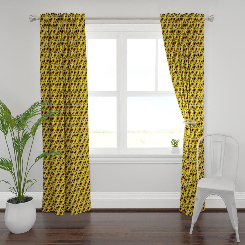 Plymouth Curtain Panel featuring KRLGFP-BumbleBee3014-HALFBRICK by karenspix