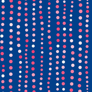 Dots in a Row Royal Blue Pink