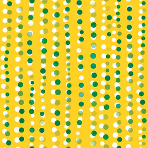 Dots in a Row Misaligned Yellow Light Green