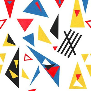 Triangle Paper Cut-Outs Basic Repeat