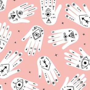 Cool aztec oriental hamsa hand of fatima indian summer hands pastel pink girls