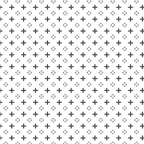 Ditsy print in black and white