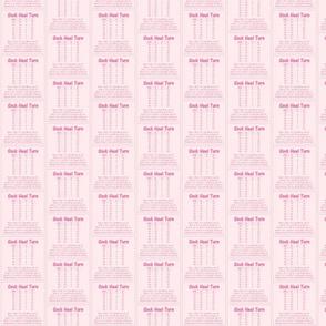 "Sock Heel Turn-pink on pink 2.5"" x 2.5"""