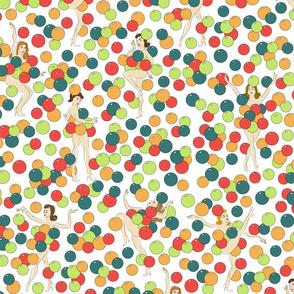 Balloon Dancers - colourful