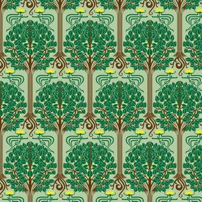 Art Nouveau Buttercup Forest