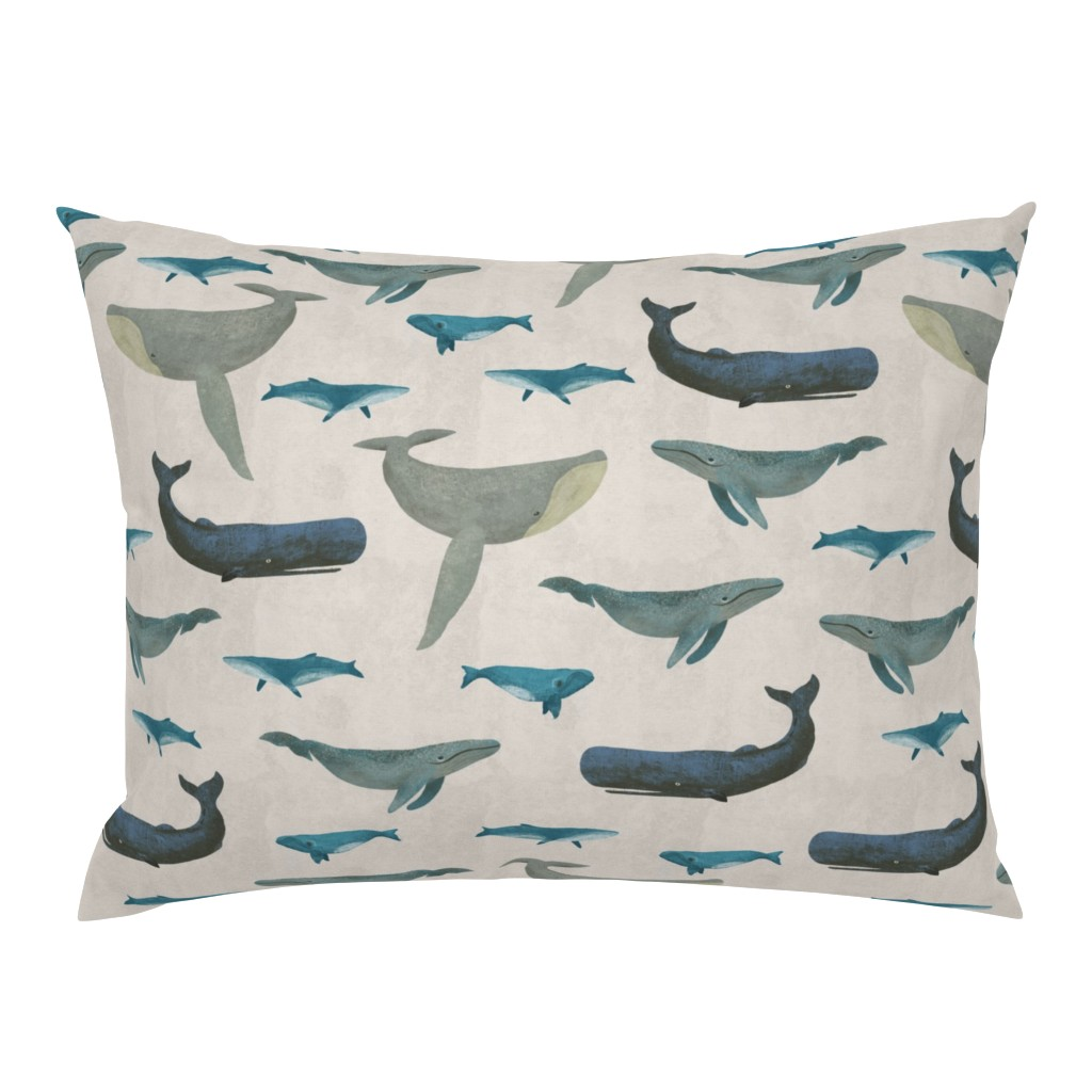 Campine Pillow Sham featuring Whales by melarmstrong