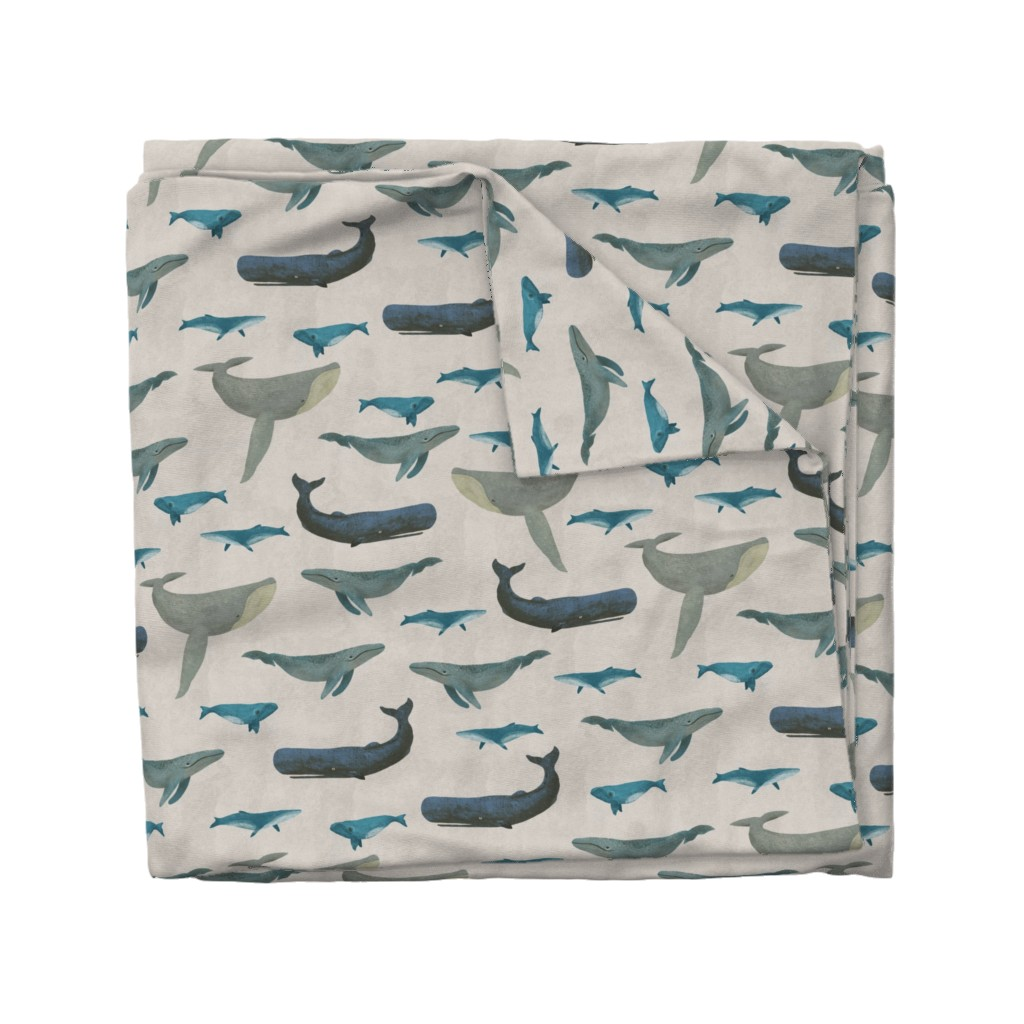 Wyandotte Duvet Cover featuring Whales by melarmstrong