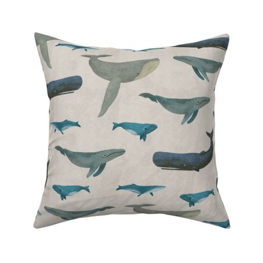 Wale Kissenbezug Krabben Wellen Menge der Fische Decorativ