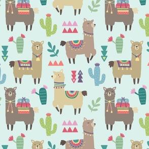 Alpaca, Cactus, and Triangle Pattern