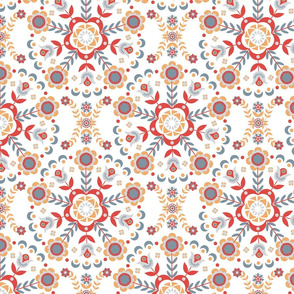 A pattern of circular ornaments floral.