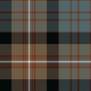 "MacDonell of Glengarry tartan #2, 8"" weathered"