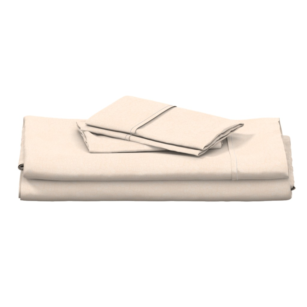"Langshan Full Bed Set featuring simplified petoskey stone, white on peach, 1/3"" by weavingmajor"