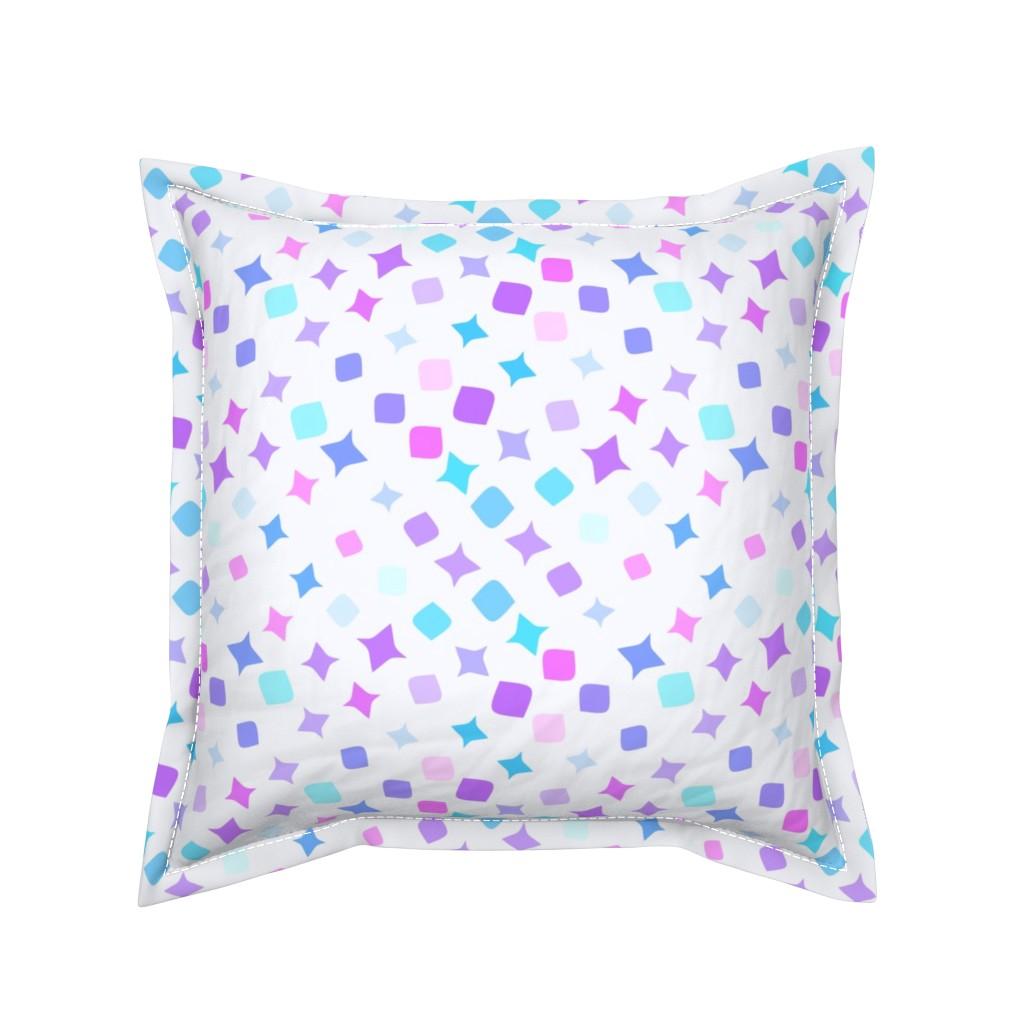 Serama Throw Pillow featuring Geometric shapes by tashakon