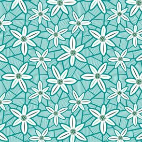 Lilies (Teal)