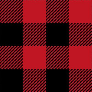 """buffalo plaid 2"""" black and red kids cute nursery hunting outdoors camping red and black plaid checks"""