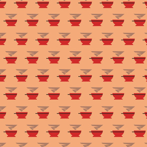 Background with red cups