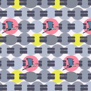 blue heron pattern horizontal