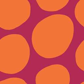 Mod Dots-Pink + Orange