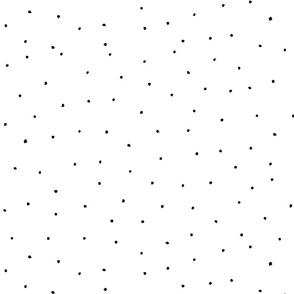 Tiny Dots Black and  White by Friztin