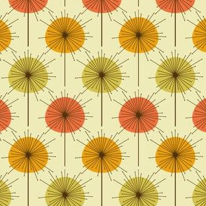 Mid century modern floral