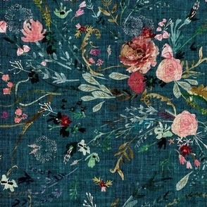 Fable floral (teal) MED
