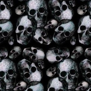 Pentagram gothic skull