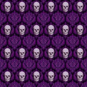 purple damask and skull