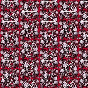 Red satan skulls pentagram