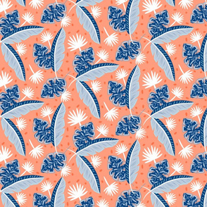 Blue plant leaves
