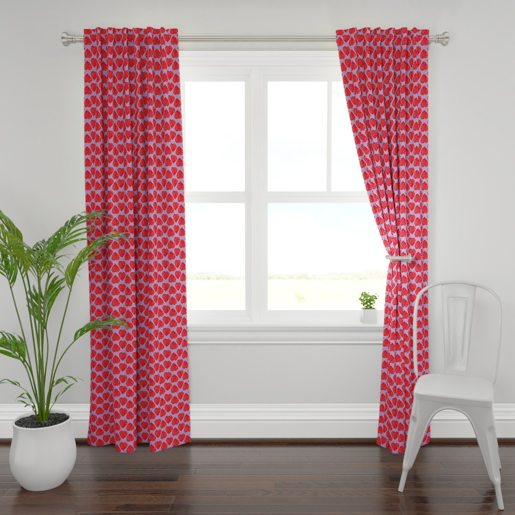 Plymouth Curtain Panel featuring intricate heart 3 by lalalamonique