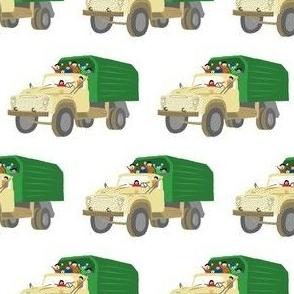 Green russian truck