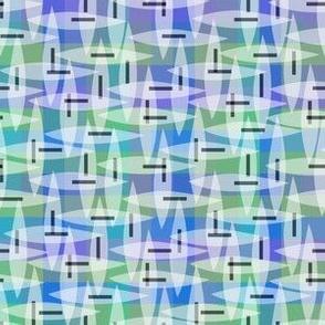 pastel plaid ocean
