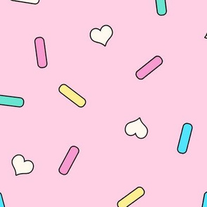 Heart Sprinkles pink Large