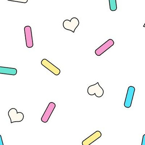 Heart Sprinkles White Large
