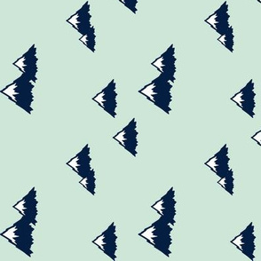 Mountains (navy on mint) || Northern Lights Colleciton (90) C18BS