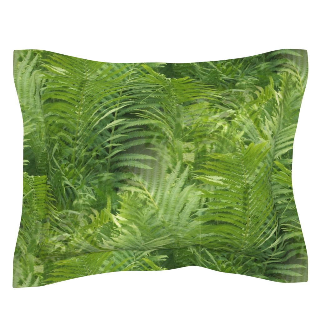 Sebright Pillow Sham featuring Fern Forest by atlas_&_tootsie