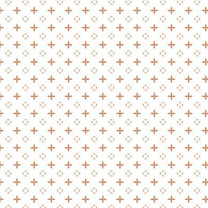 Ditsy print in a coral on white