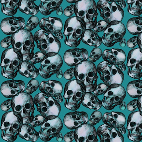 Skull teal