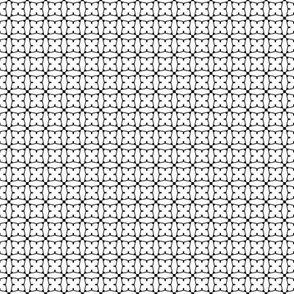 Circles and squares in black on white