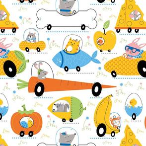 animal transport food cars
