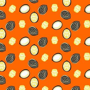 Walnut orange color