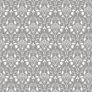 Gray damask pattern