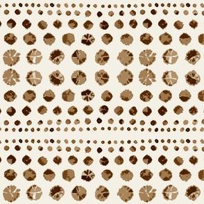 Shibori Abstract on Brownstone