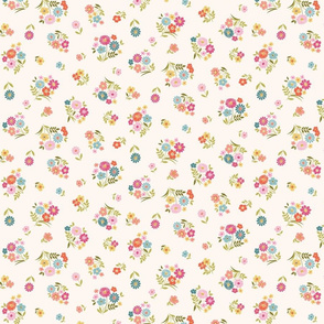 Scattered floral bunches