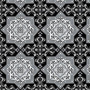 Grey square tile