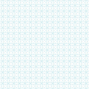 Circles and squares in baby blue on white