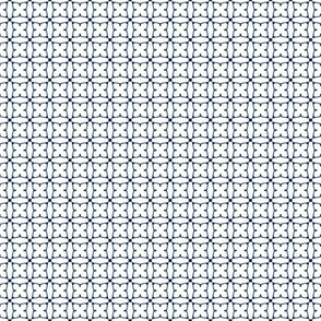 Circles and squares in navy on white