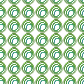 Circles in green