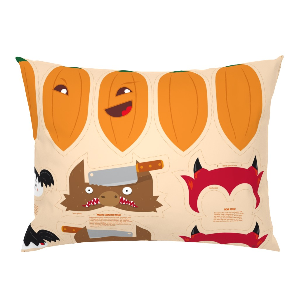 Campine Pillow Sham featuring Dress up your Jack o'lantern  by verycherry