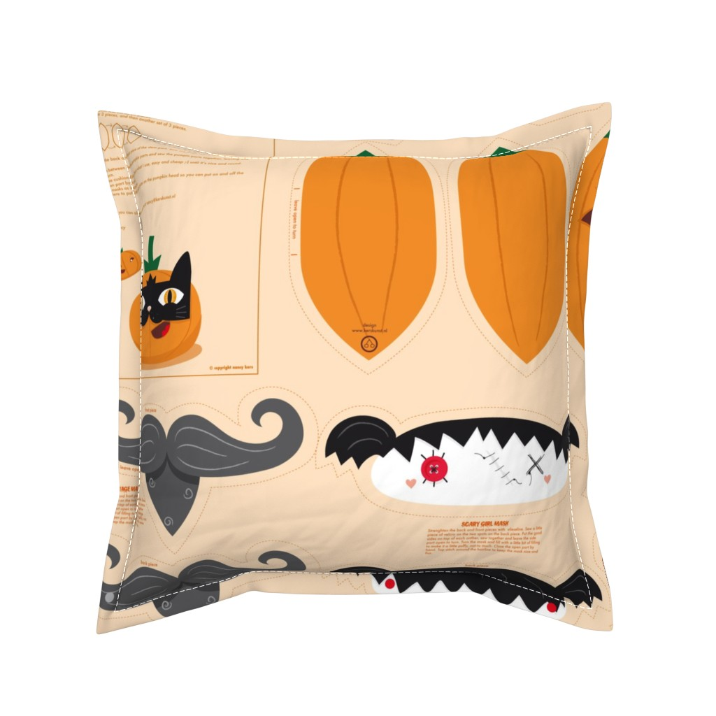 Serama Throw Pillow featuring Dress up your Jack o'lantern  by verycherry